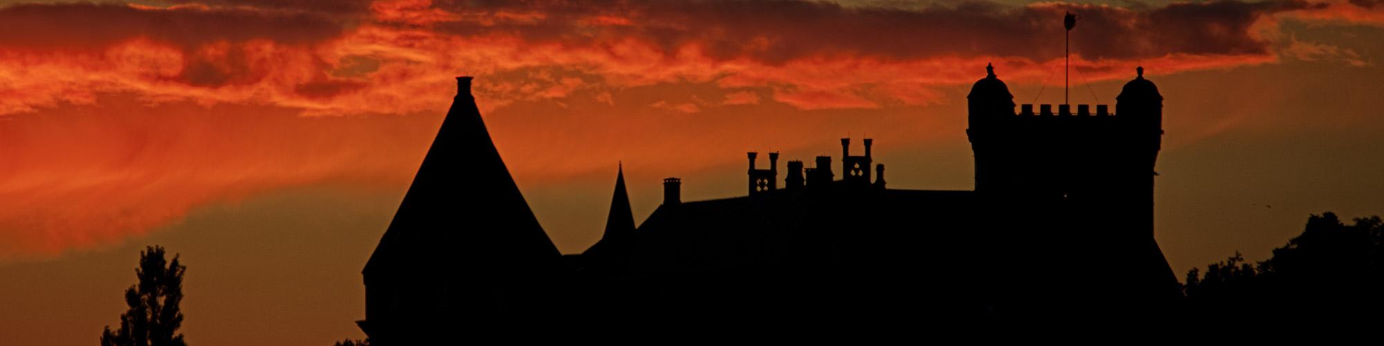 Burg Bentheim im Abendrot